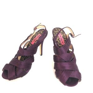 Betsy Johnson | Purple Satin Sandals Size 9M